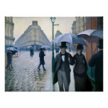 Paris Street Rainy Day by Gustave Caillebotte Print