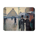 Paris Street Rainy Day by Gustave Caillebotte Rectangular Photo Magnet