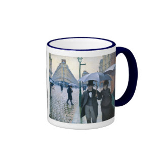Paris Street Rainy Day by Gustave Caillebotte Ringer Coffee Mug