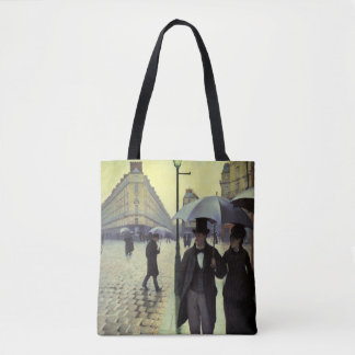Paris Street Rainy Day by Gustave Caillebotte Tote Bag