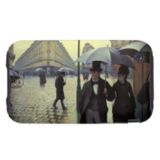 Paris Street Rainy Day by Gustave Caillebotte Tough iPhone 3 Case