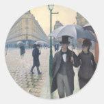 Paris Street; Rainy Day Classic Round Sticker