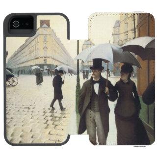 Paris Street, Rainy Day Wallet Case For iPhone SE/5/5s