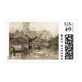 Paris Street Scene 1910 Stamp