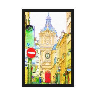 Paris Street Scene Canvas Print