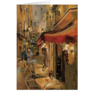 Paris Street Scene Card