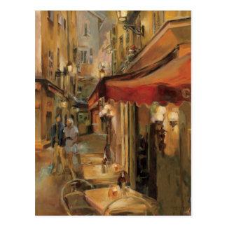 Paris Street Scene Postcard