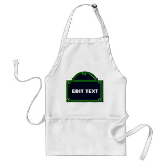 Paris Street Sign Edit Your Name Added Adult Apron