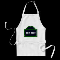 Paris Street Sign Edit Your Name Added aprons