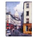 Paris Street Spiral Note Book
