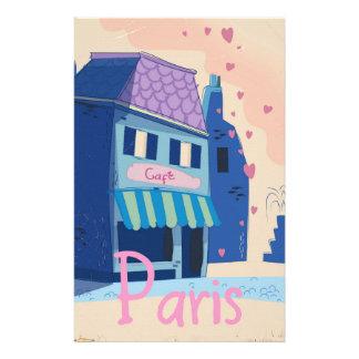 Paris Street vintage cartoon Stationery