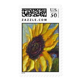 Paris' Sunflower Postage Stamp