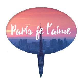 Paris sunset cake topper