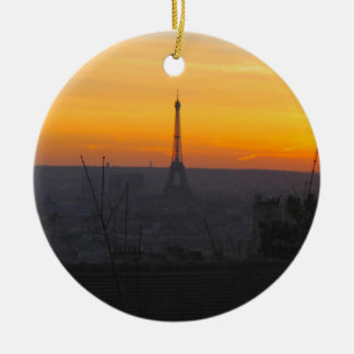 Paris Sunset Ceramic Ornament