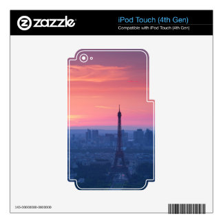 Paris Sunset Decal For iPod Touch 4G