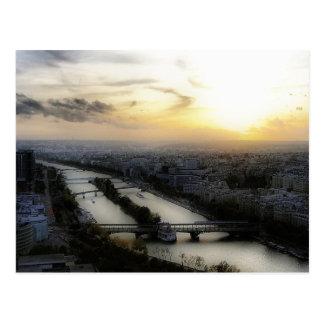 Paris Sunset Postcard