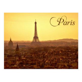 Paris Sunset with Eiffel Tower Postcard