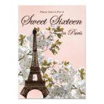 """Paris Sweet Sixteen Invitations 5"""" X 7"""" Invitation Card"""