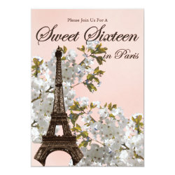 Paris Sweet Sixteen Invitations