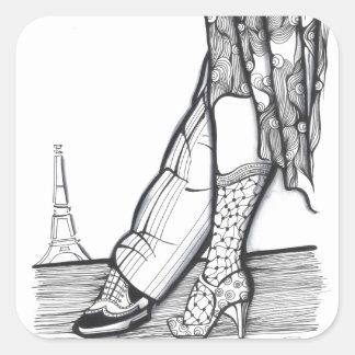 Paris Tango Square Sticker