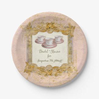 Paris Tea Party Royal Versailles Bridal Shower Paper Plate