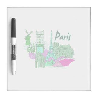 paris  teal city image.png Dry-Erase board