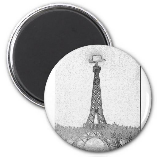 Paris, Texas Eiffel Tower Drawing Fridge Magnets