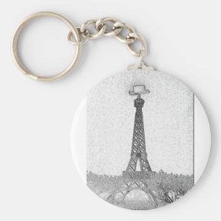 Paris, Texas Eiffel Tower Drawing Keychain