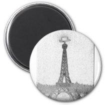 Paris, Texas Eiffel Tower Drawing Magnet