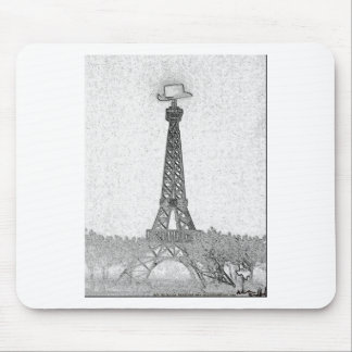 Paris, Texas Eiffel Tower Drawing Mouse Pad