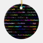 Paris Text Design I Ornament