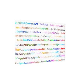 Paris Text Design II Wrapped Canvas