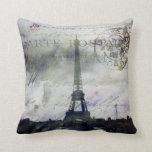 París texturizada en almohada de la lavanda
