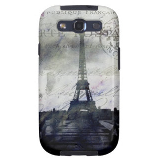 París texturizada en caso de la galaxia de Samsung Galaxy S3 Protectores