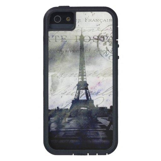 París texturizada en caso de la identificación del iPhone 5 Case-Mate funda