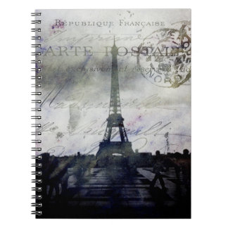 París texturizada en cuaderno de la lavanda