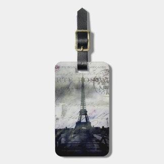 París texturizada en etiquetas del equipaje de la  etiquetas bolsas