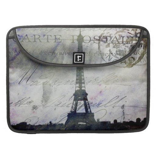 París texturizada en lavanda fundas macbook pro