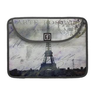 París texturizada en lavanda fundas para macbooks