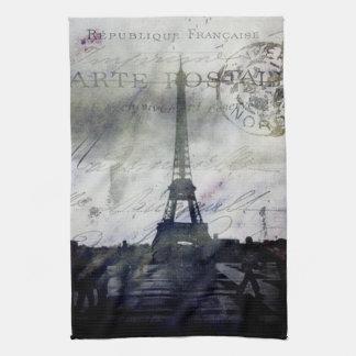 París texturizada en lavanda toalla de mano