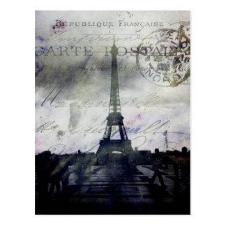París texturizada en lavanda postal