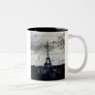 París texturizada en lavanda tazas de café