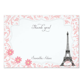 Paris Thank You Card (Pink)