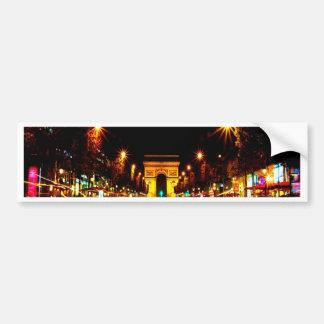 paris the arc de triomphe monument night car bumper sticker