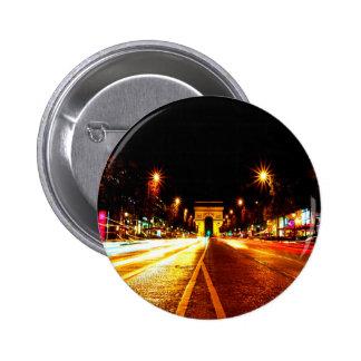 paris the arc de triomphe monument night button