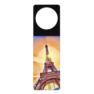 Paris, the Eiffel Tower, France, personalised gift Door Knob Hanger