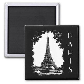 Paris the Eiffel Tower Illustration magnet