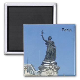 Paris - the monument � R�publique - 2 Inch Square Magnet