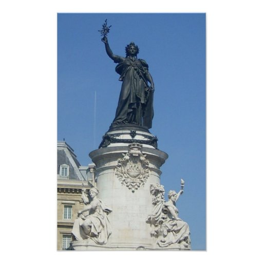 Paris - the monument � R�publique - Posters