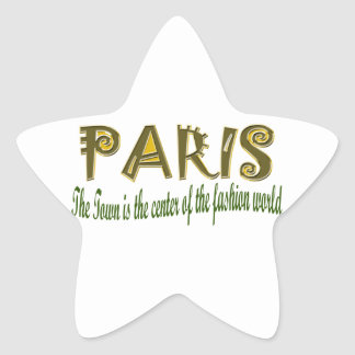Paris The Town is The Center Of the Fashion Star Sticker